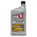 Kendall GT-1 Full Synthetic Motor Oil with Liquid Titanium 5w-20