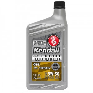 Kendall GT-1 Full Synthetic Motor Oil with Liquid Titanium 5w-30