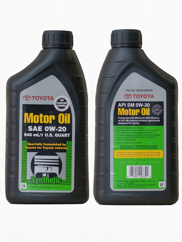 Toyota Synthetic Motor Oil 0w 20 0 946