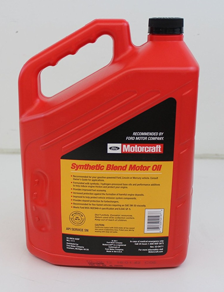 Ford 5w30 motorcraft synthetic blend 0 for Motorcraft synthetic blend motor oil