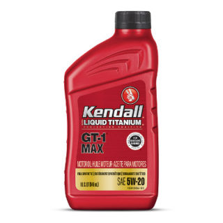 Kendall GT-1 Max Full Synthetic Motor Oil with Liquid Titanium 5W-20 SN PLUS