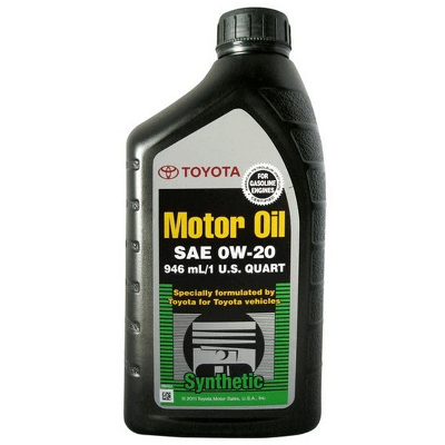 Toyota synthetic motor oil 0w 20 0 946 for What is ow 20 motor oil