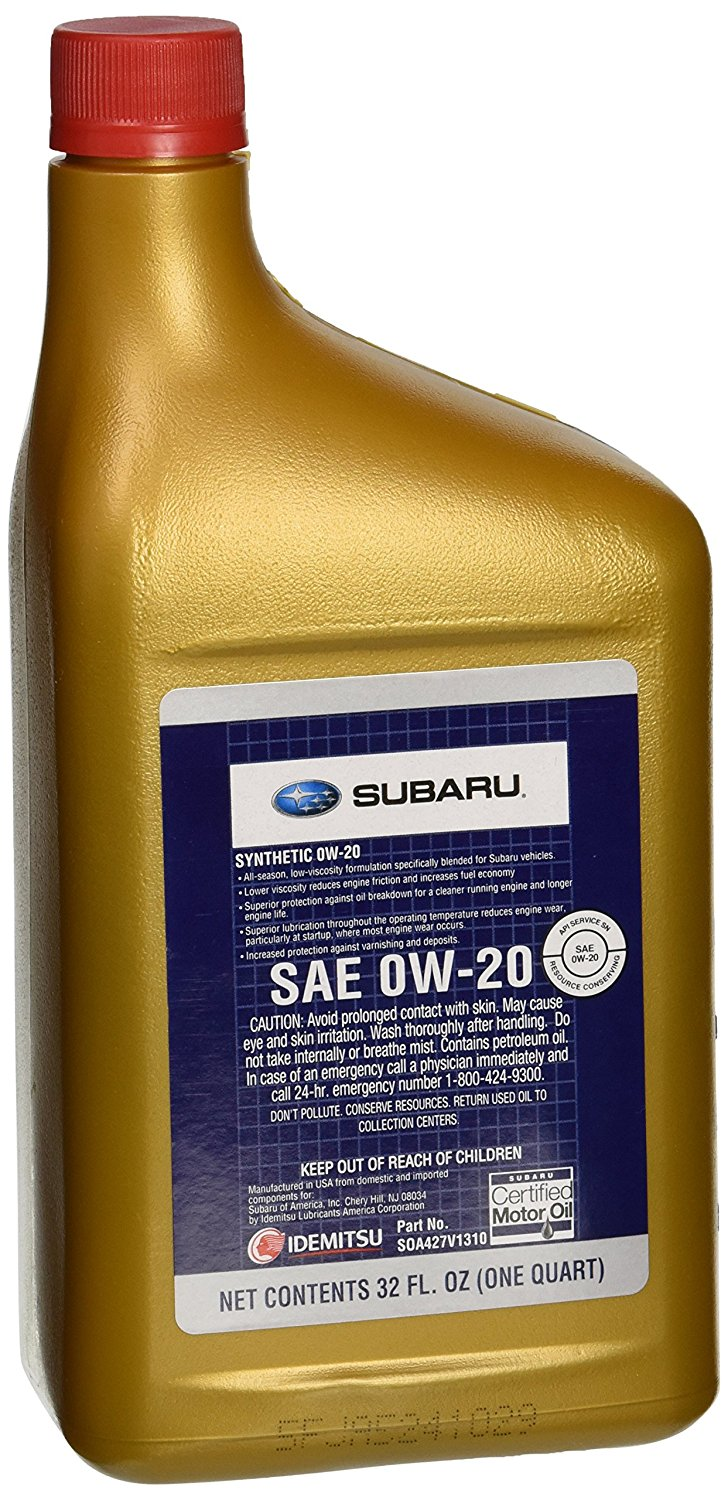 genuine subaru 0w 20 motor oil soa427v1310 0 946 origin oil. Black Bedroom Furniture Sets. Home Design Ideas