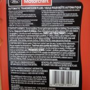 MOTORCRAFT MERCON ULV Automatic Transmission Fluid back