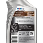 Mobil1 Advanced Full Synthetic Truck & SUV 0w20 back